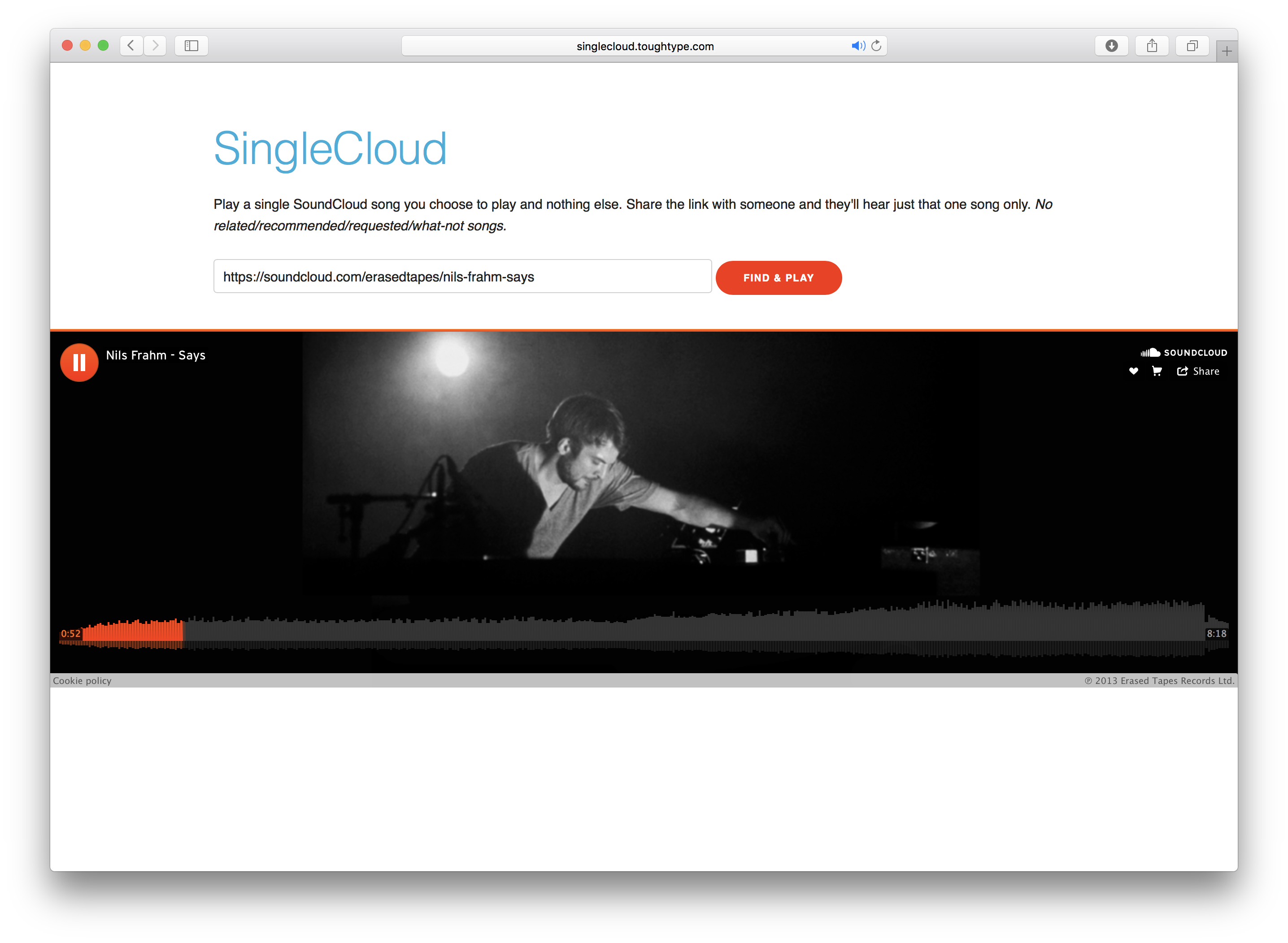 SingleCloud Screen Shot