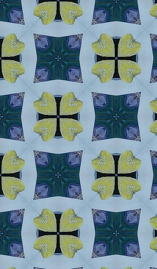 Yellow Hearts Abstract